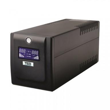 UPS 700VA protect IT, stabilizator de tensiune cu protectie si baterie